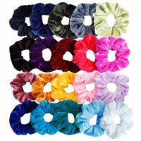 20Pcs Hair Scrunchies Velvet Elastic Hair Bands Scrunchy Hair Ties Ropes Scrun