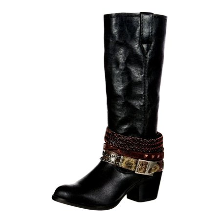 Durango Western Boots Womens Philly Accessorized Straps Black DRD0072