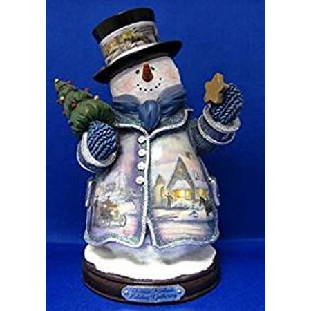Thomas Kinkade Holiday Gathering Snowman & Inches Tall Cerificate of Authenticity