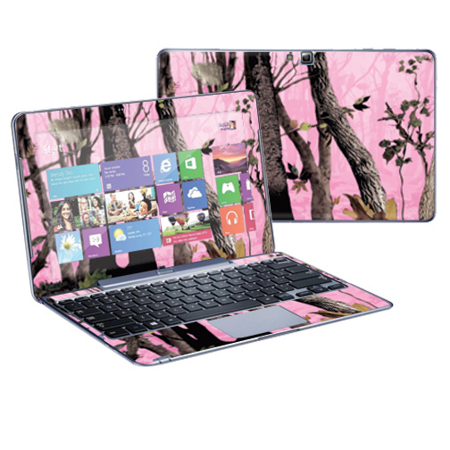 "Mightyskins Protective Skin Decal Cover for Samsung ATIV Smart PC Pro 500T Tablet & Keyboard with 11.6"" screen wrap sticker skins Pink Tree Camo"