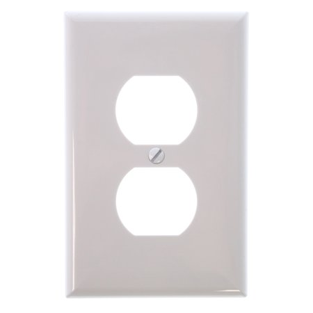 Cooper Wiring Devices 1 Gang White Standard Duplex Receptacle Nylon Wall Plates  10 Packs