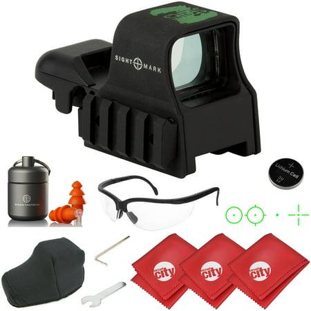 Sightmark Ultra Shot Z-Series Zombie Reflex Rifle Sight w/ Earplugs + Shooting Glasses (SM13005Z)