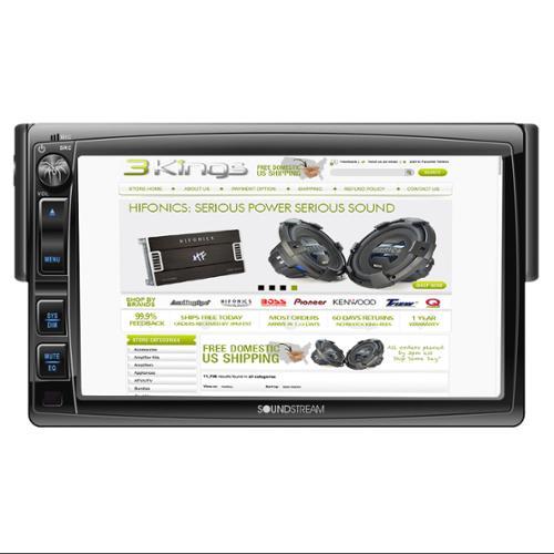 Single DIN Multimedia Source Unit w/ Motorized Detachable...