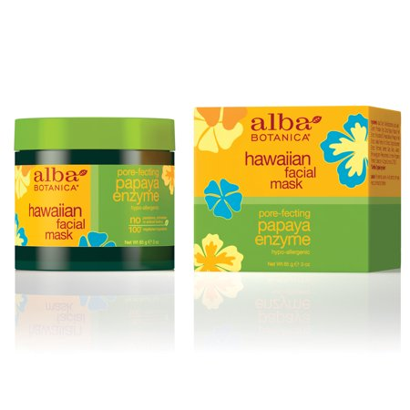 Papaya Enzyme Peel (Alba Botanica Hawaiian Facial Mask, Pore-fecting Papaya Enzyme, 3 Oz)