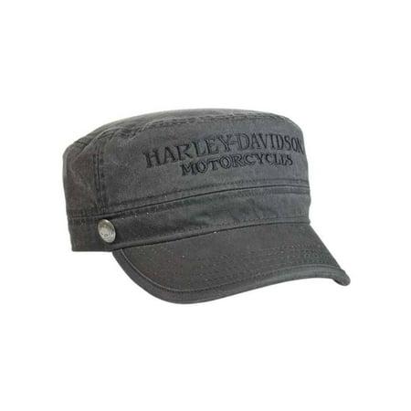 Harley-Davidson Men's Hubcap Embroidered H-D Painter's Cap, Wash Black PC102921, Harley Davidson - Painters Cap