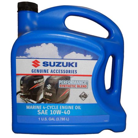 oem suzuki marine outboard synthetic blend 4-cycle engine oil 10w