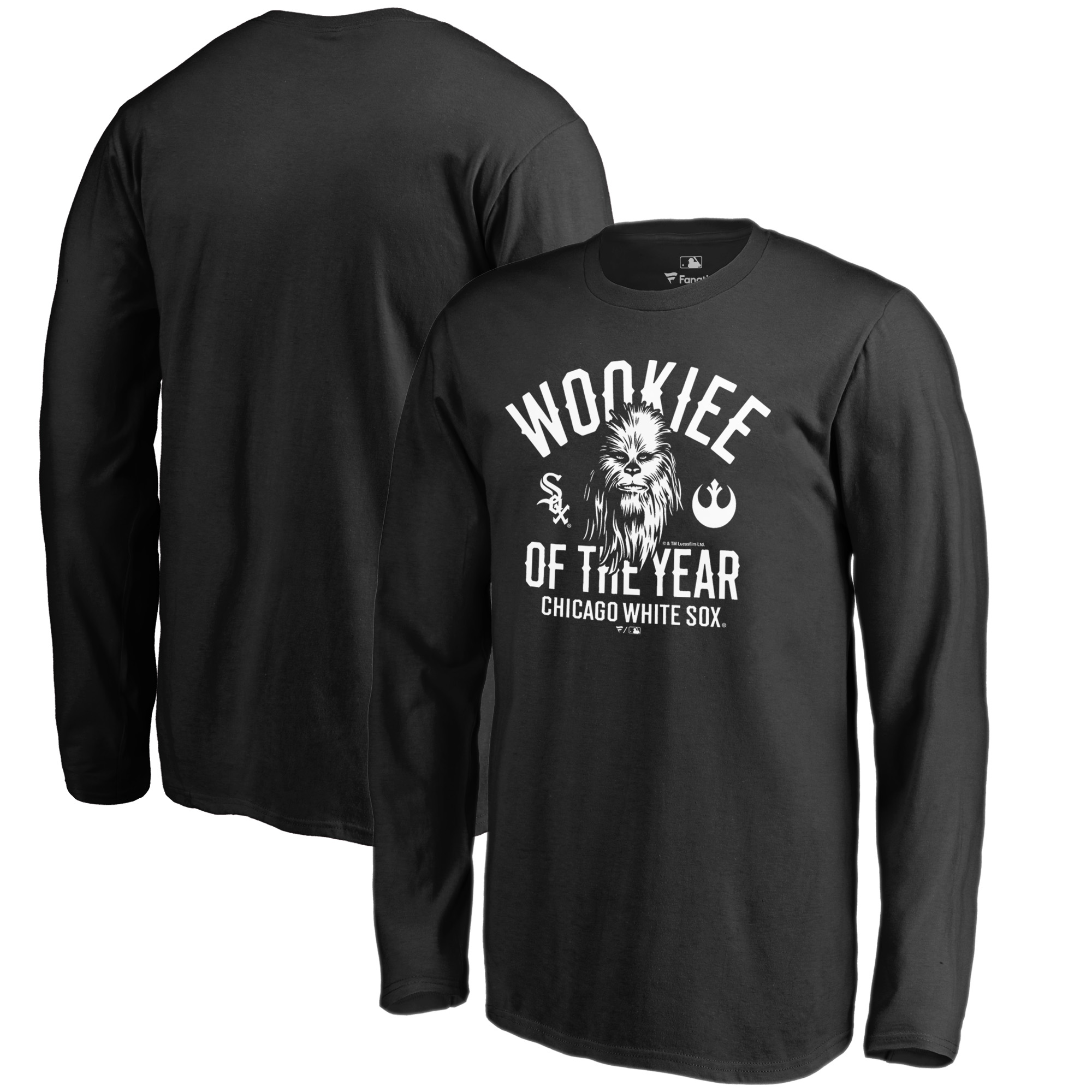 Chicago White Sox Fanatics Branded Youth Star Wars Wookiee Of The Year Long Sleeve T-Shirt - Black