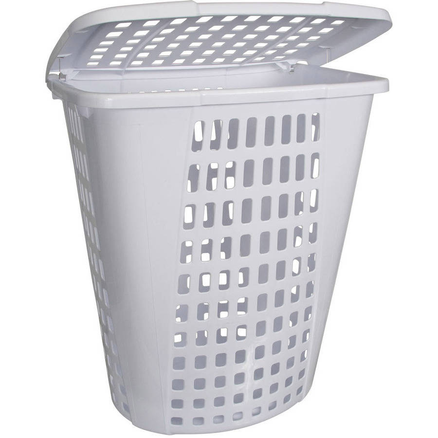Home Logic 2.0-Bu Large Capacity Lidded Laundry Hamper, White