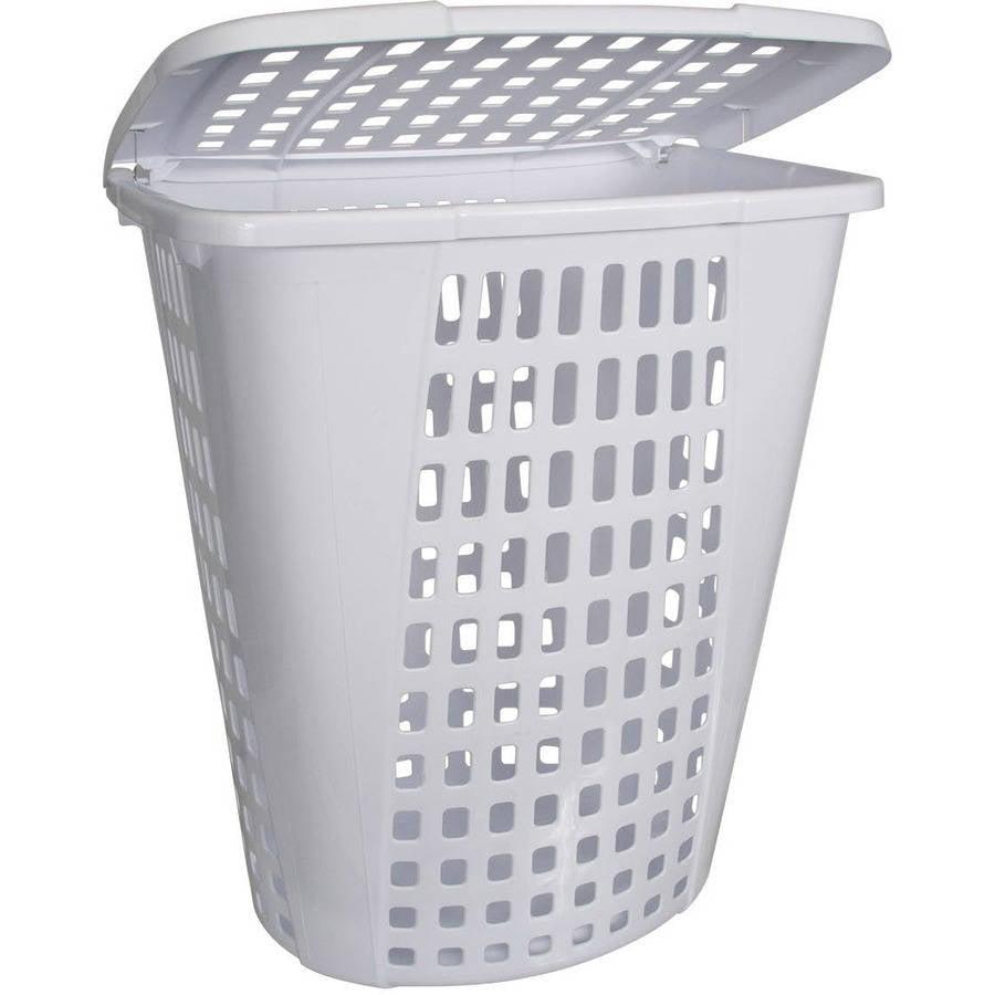 Home Logic 2.0-Bu Large Capacity Lidded Laundry Hamper, White