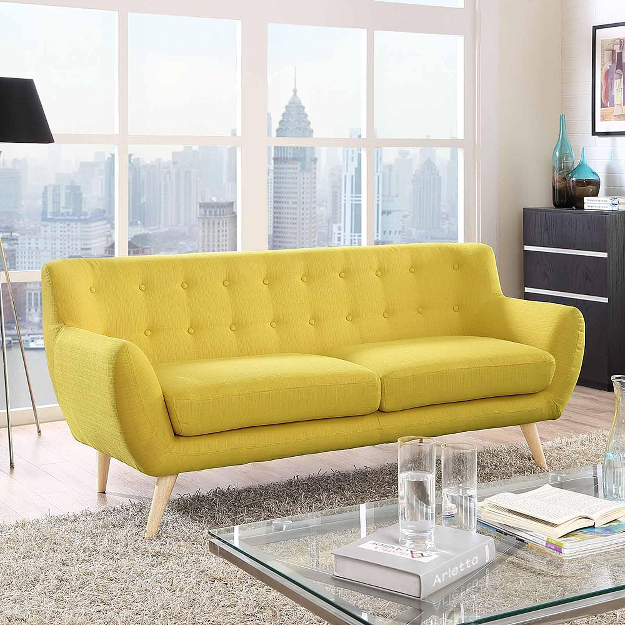 Modway Remark Modern Upholstered Sofa Multiple Colors Walmart