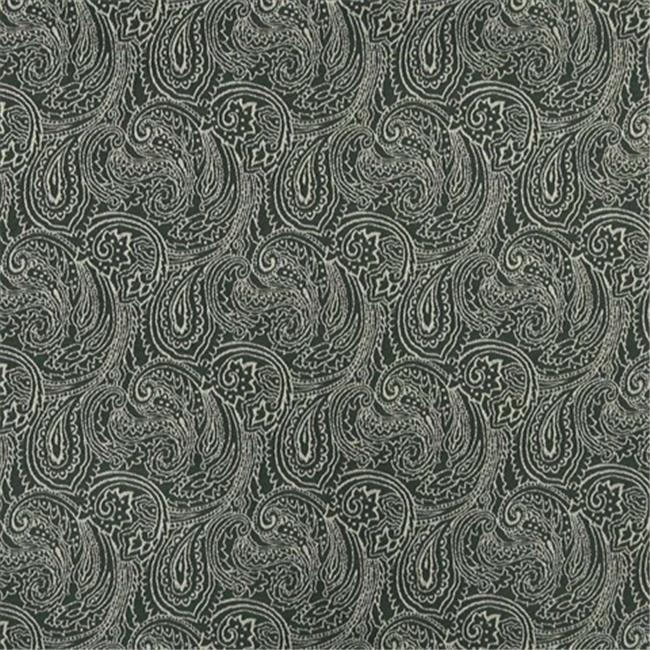 Designer Fabrics B628 54 in. Wide Green, Traditional Paisley Jacquard Woven Upholstery Fabric