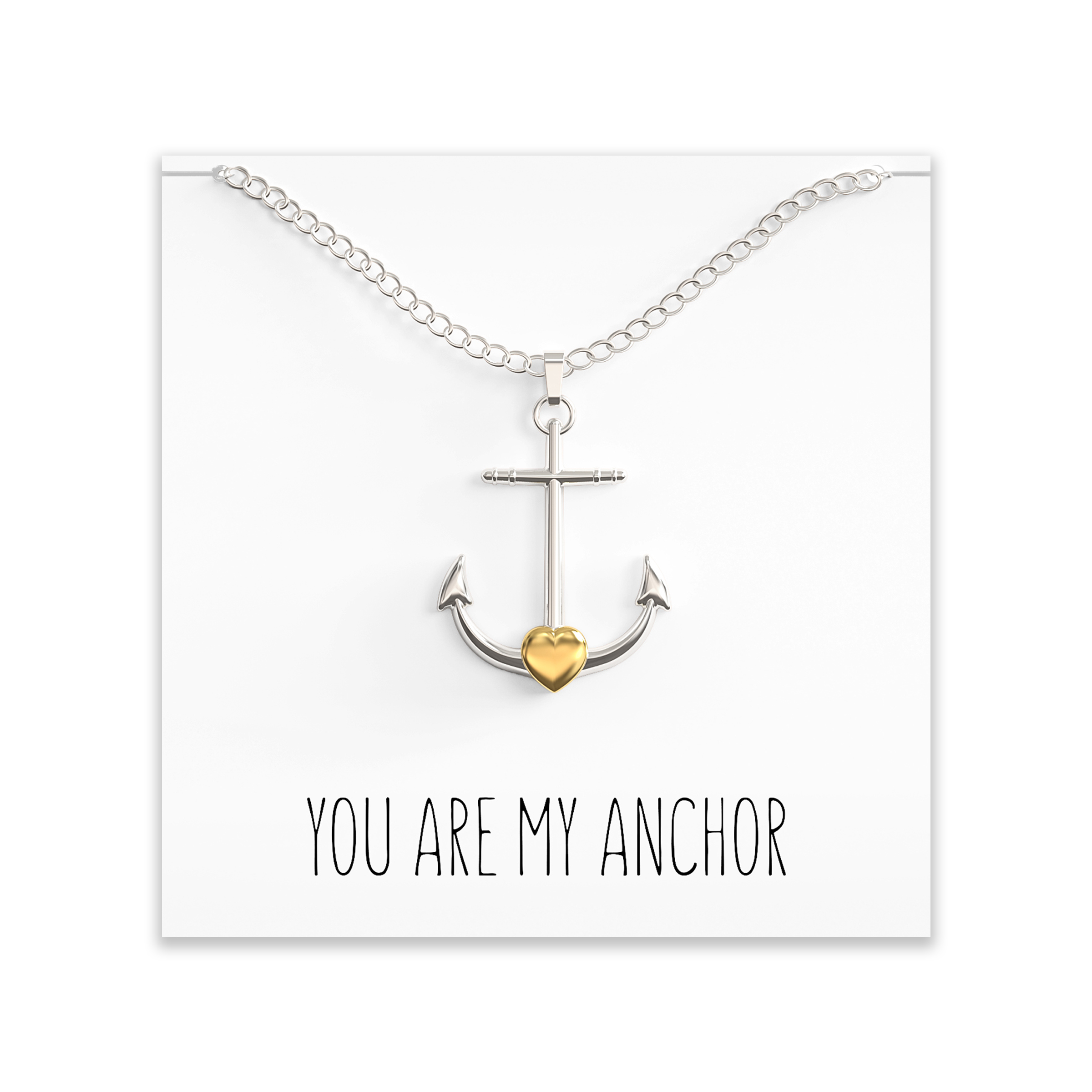 BFF gift Personalized necklace Silver anchor A77 Anchor necklace ANCHOR gift Nautical necklace Best friend necklace Love necklace