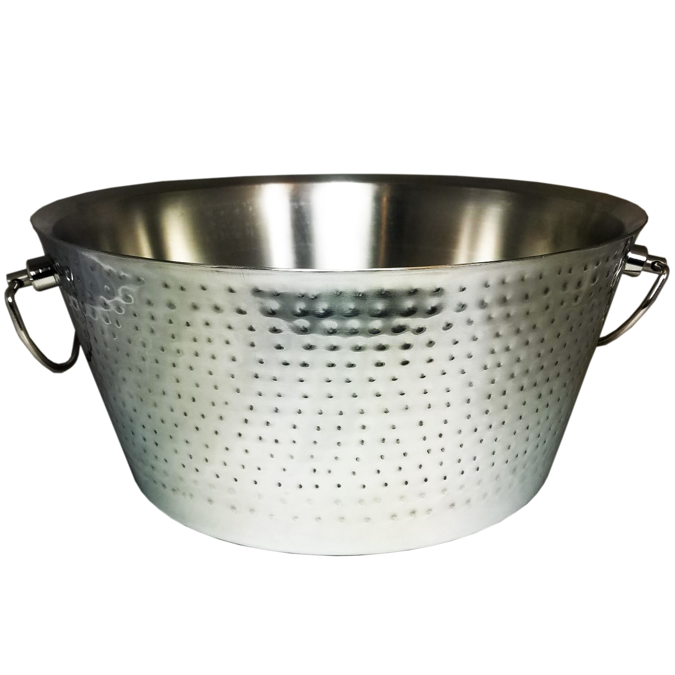 BREKX Double-Walled Hammered Stainless Steel Party Beverage Tub & Wine Chiller