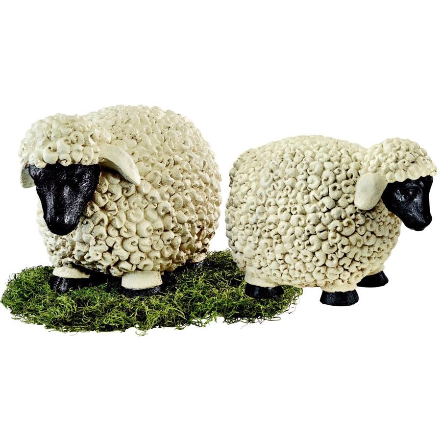 Counting Sheep Garden Statues Set: Medium & Large by Design Toscano