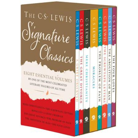 The C. S. Lewis Signature Classics (8-Volume Box Set) : An Anthology of 8 C. S. Lewis Titles: Mere Christianity, the Screwtape Letters, Miracles, the Great Divorce, the Problem of Pain, a Grief Observed, the Abolition of Man, and the Four Loves (The Great Pain Deception)