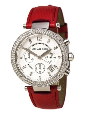 e09cb2c52eb2 Product Image MK2278 Women s Parker Chronograph Silver Dial Pink Leather Strap  Watch. Michael Kors