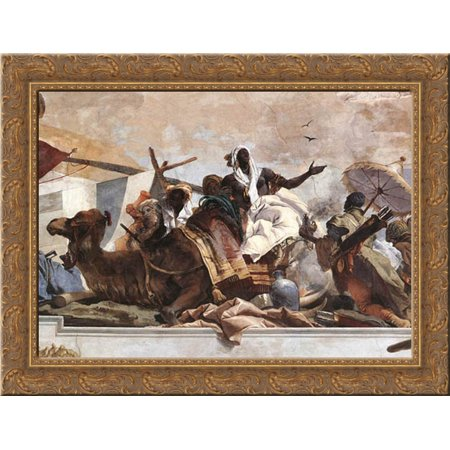 Apollo And The Continents  Detail  5  24X20 Gold Ornate Wood Framed Canvas Art By Tiepolo  Giovanni Battista