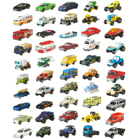Matchbox Classic 50-Pack Realistic Vehicles Set (Styles May Vary)