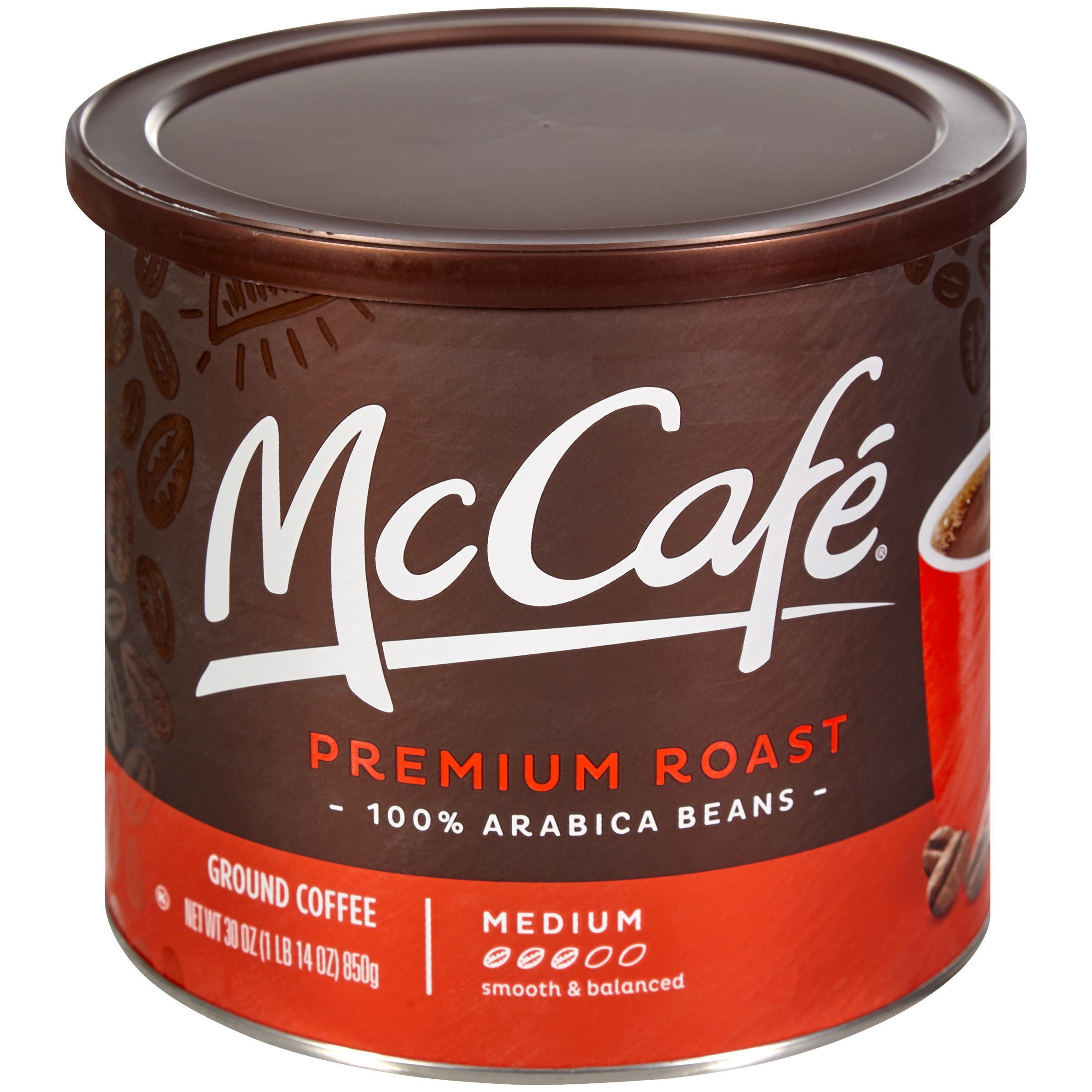 McCafé Premium Roast Ground Coffee 30 oz. Canister