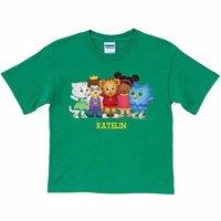 Personalized Daniel Tiger's Neighborhood Group Boys' Green T-Shirt