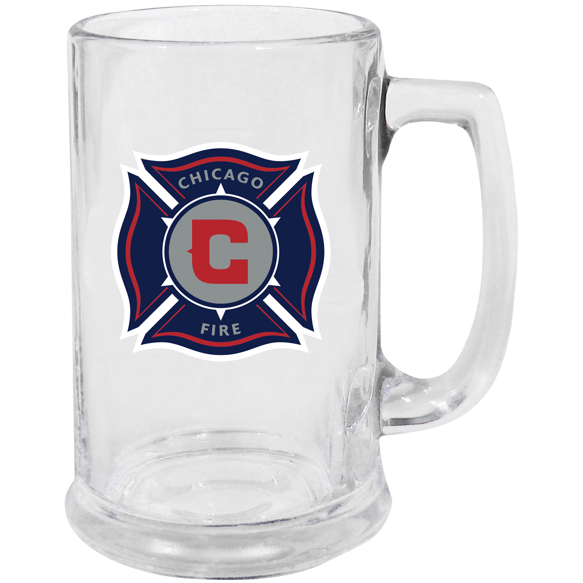 Chicago Fire 15oz. Glass Stein - No Size