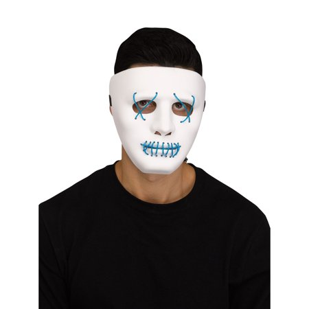 Illumo Blue LED Light Up Mask Halloween Costume - Led Costume For Sale