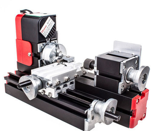 ELEOPTION Mini Lathe Machine New 12V Miniature Metal Multifunction Lathe Machine DIY... by