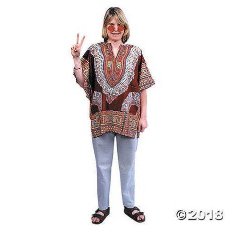 Women's Groovy Retro Hippie Costume 60s 70s Dashiki Retro Tunic Sizes: One Size](60s And 70s Costumes)