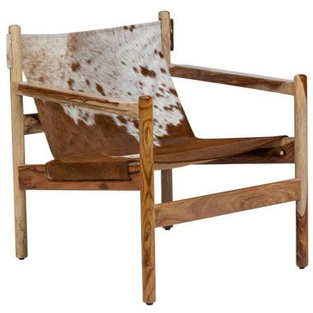 Terrific Genoa Cow Hide Leather Sling Chair Real Cowhide Uwap Interior Chair Design Uwaporg