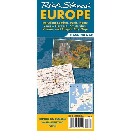 Rick steves europe planning map : including london, paris, rome, venice, florence, amsterdam, vienna: 9781598801378 (Maps Paris)