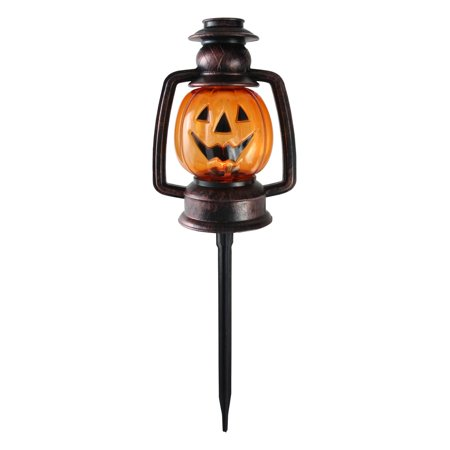 Set of 3 Flickering Halloween Pumpkin Lantern Pathway - Halloween Outdoor Lanterns