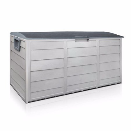 Patio Deck Pool (Barton 63-Gallons Patio Storage Box Container for Patio Furniture, Toys, Pools, Yard Tools on Porch, Deck, Backyard )