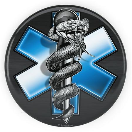 Tenacitee EMS Snake Pinback Button, 2 25