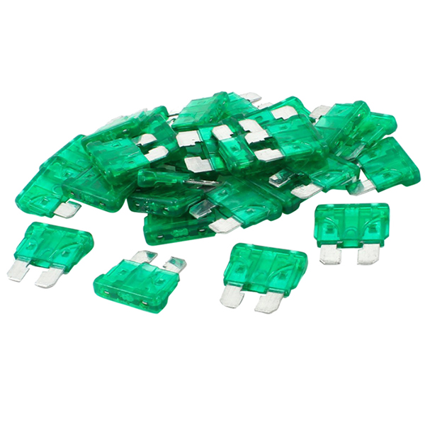 100 Pack 30 Amp ATC Fuse Blade Style 30A for Automotive Car Truck