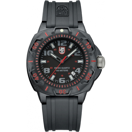 Men's Black Luminox Sentry Military Diver's Watch A.0215.SL