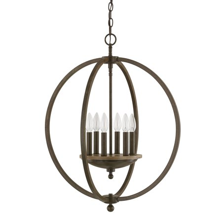 Capital Lighting Perry Bronze And Oak 4 Light Pendant