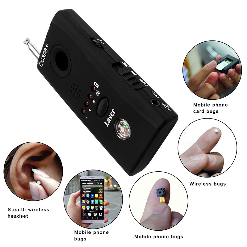 Full Range Multi-unction Signal Detector Wireless Camera Cell Phone Radio Monitor Spy Bug RF Signal Finder with Auto Detection