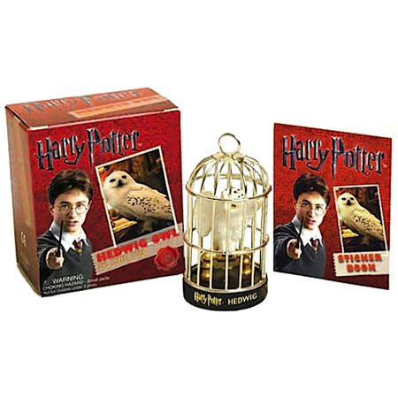 Deluxe Mega Kit Hedwig Owl and Sticker Book Harry Potter Miniature -