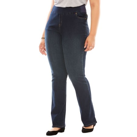 Woman Within Plus Size Tall Bootcut Smooth Waist