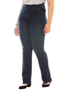 4656418b599 Product Image Woman Within Plus Size Tall Bootcut Smooth Waist Jean