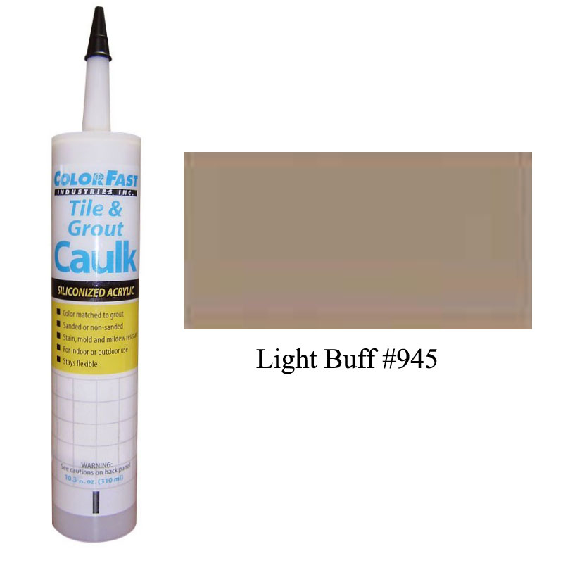 Latex Colored Caulk - TEC Color Line: Light Buff Unsanded