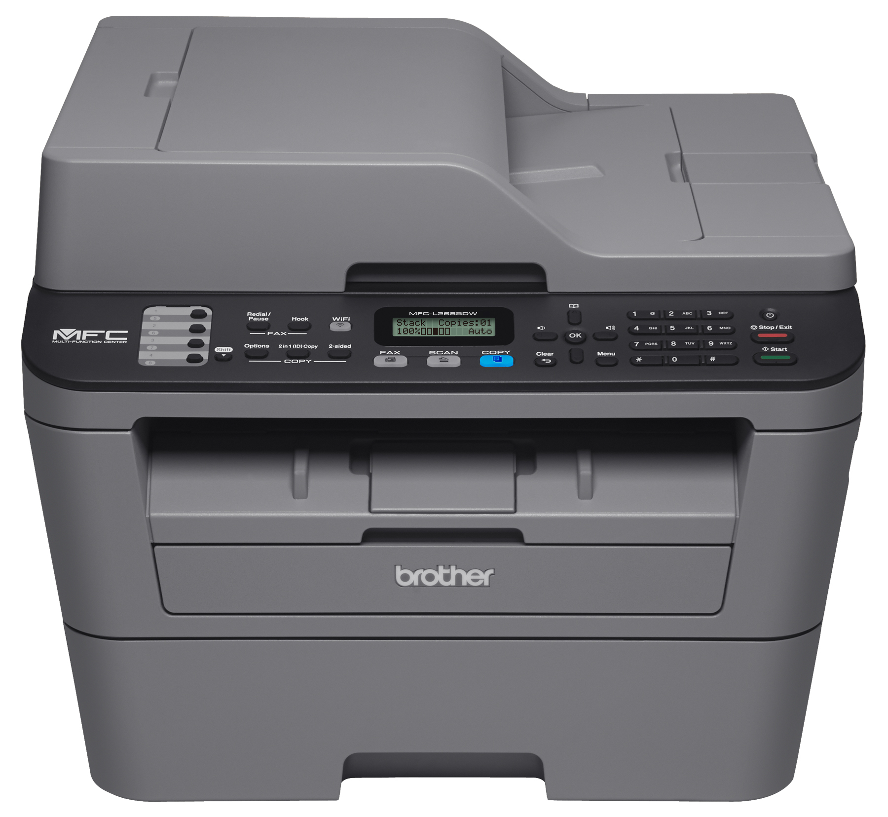 Brother Refurbished MFC-L2685DW Compact All-in-One Monochrome Laser Printer