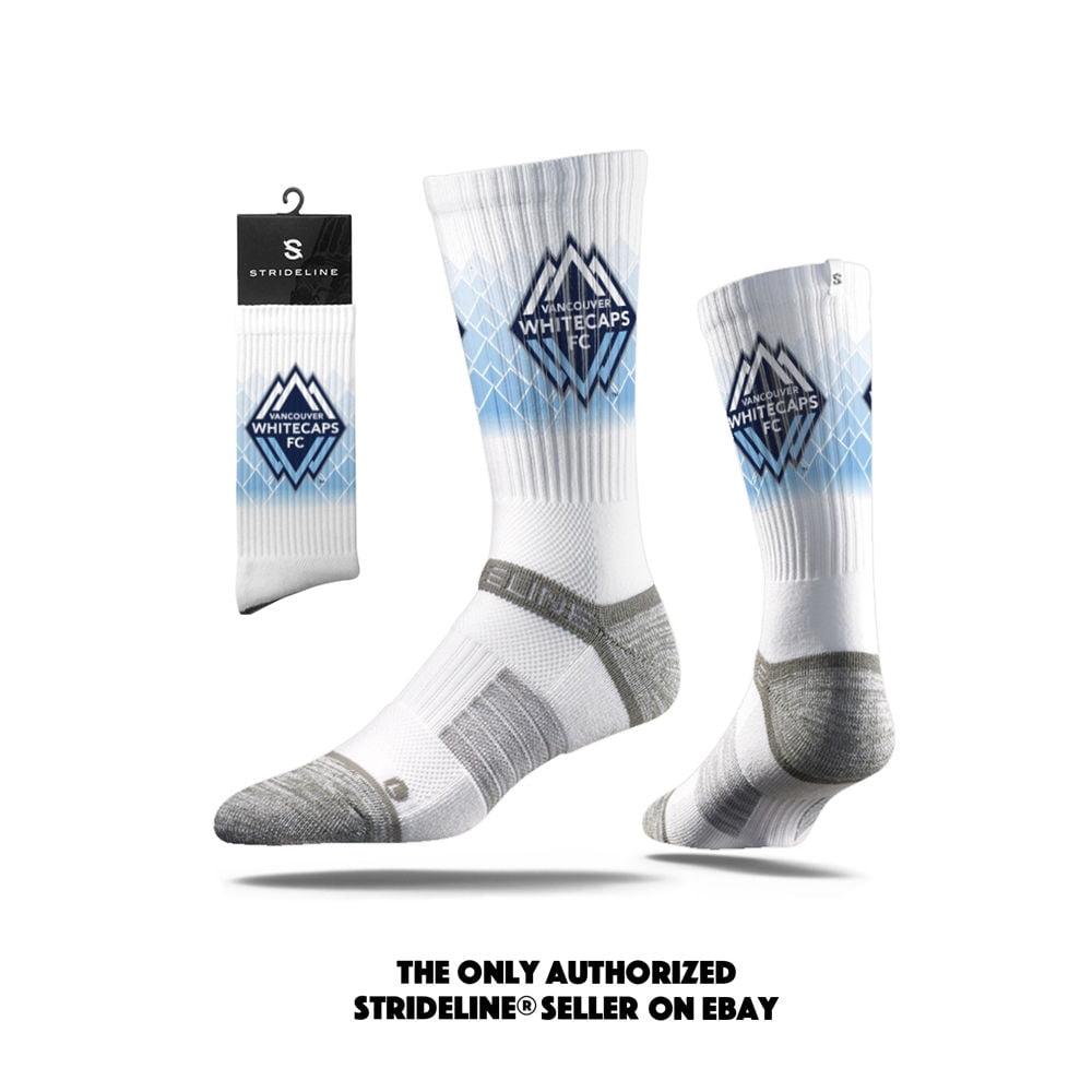 Strideline 2.0 MLS Vancouver Whitecaps FC White Crew Socks