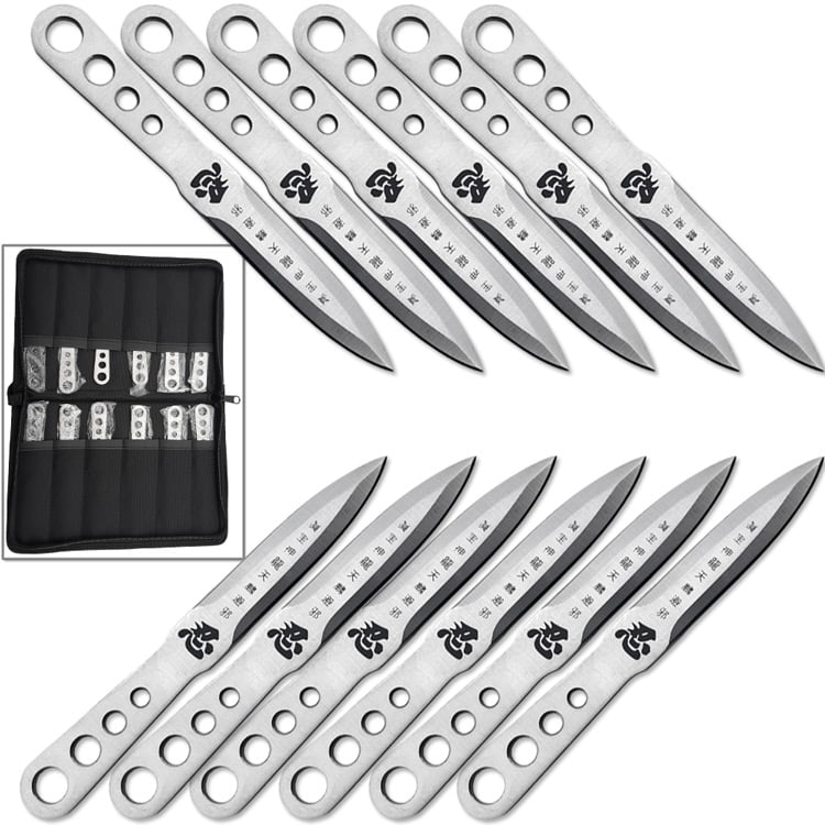 Japanese Shinobi Throwing Knife Set of 12 Pieces 440 Stainless by Knife World