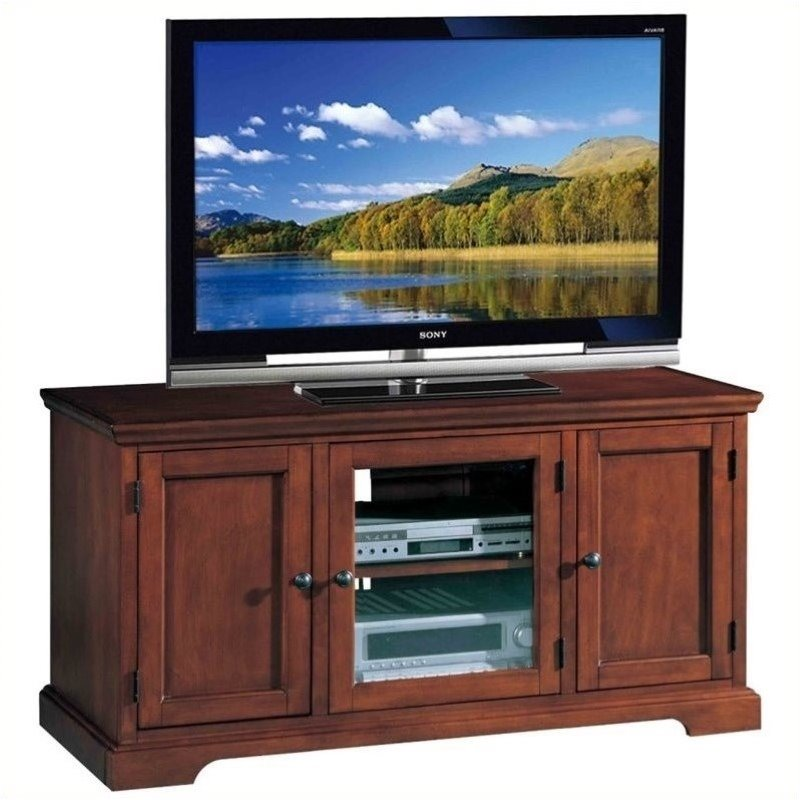 "Bowery Hill 50"" TV Stand in a Brown Cherry Finish"