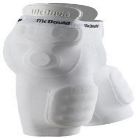 McDavid 840 Adult 5 Pocket Compression Football Girdle White Small [Misc.]
