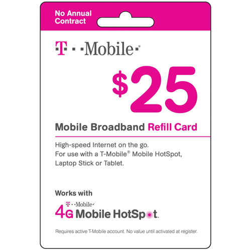 (Email Delivery) T-Mobile $25 Prepaid Mobile Broadband Pass