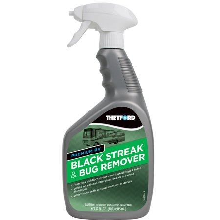 Tar Remover - Premium RV Black Streak and Bug Remover - Black Streak Cleaner for RVs / Boats / Cars / Trucks / Vans / Motorcycles - 32 oz - Thetford 32501