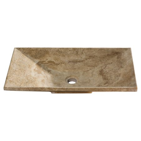Vicki Beige Travertine Vessel Sink (Sink Y Connector)
