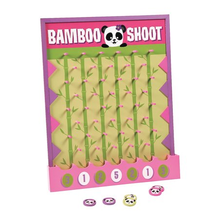 Fun Express - Panda Disk Drop Game for Birthday - Toys - Games - Carnival & Bingo - Birthday - 7 (Fun Games For 7 Year Old Birthday Party)